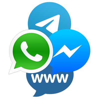 Messenger, Whatsapp